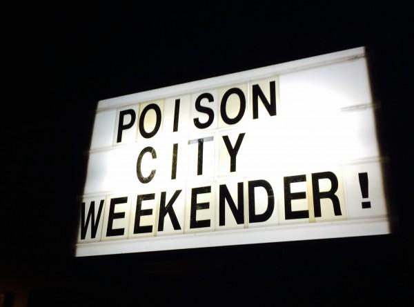 Weekender sign